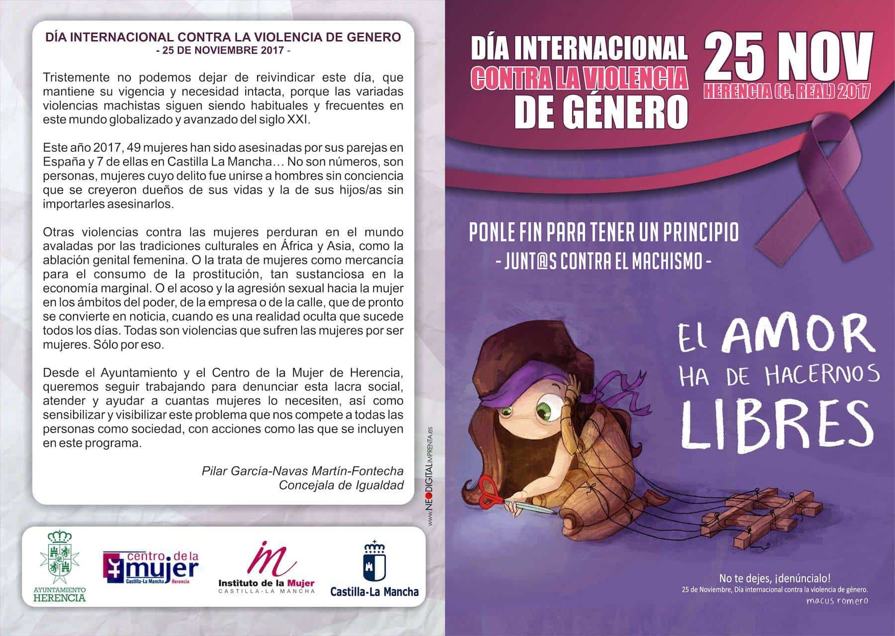 """dia internacional violencia genero herencia - """"Ponle fin para tener un principio"""". Día contra la Violencia de Género en Herencia"""