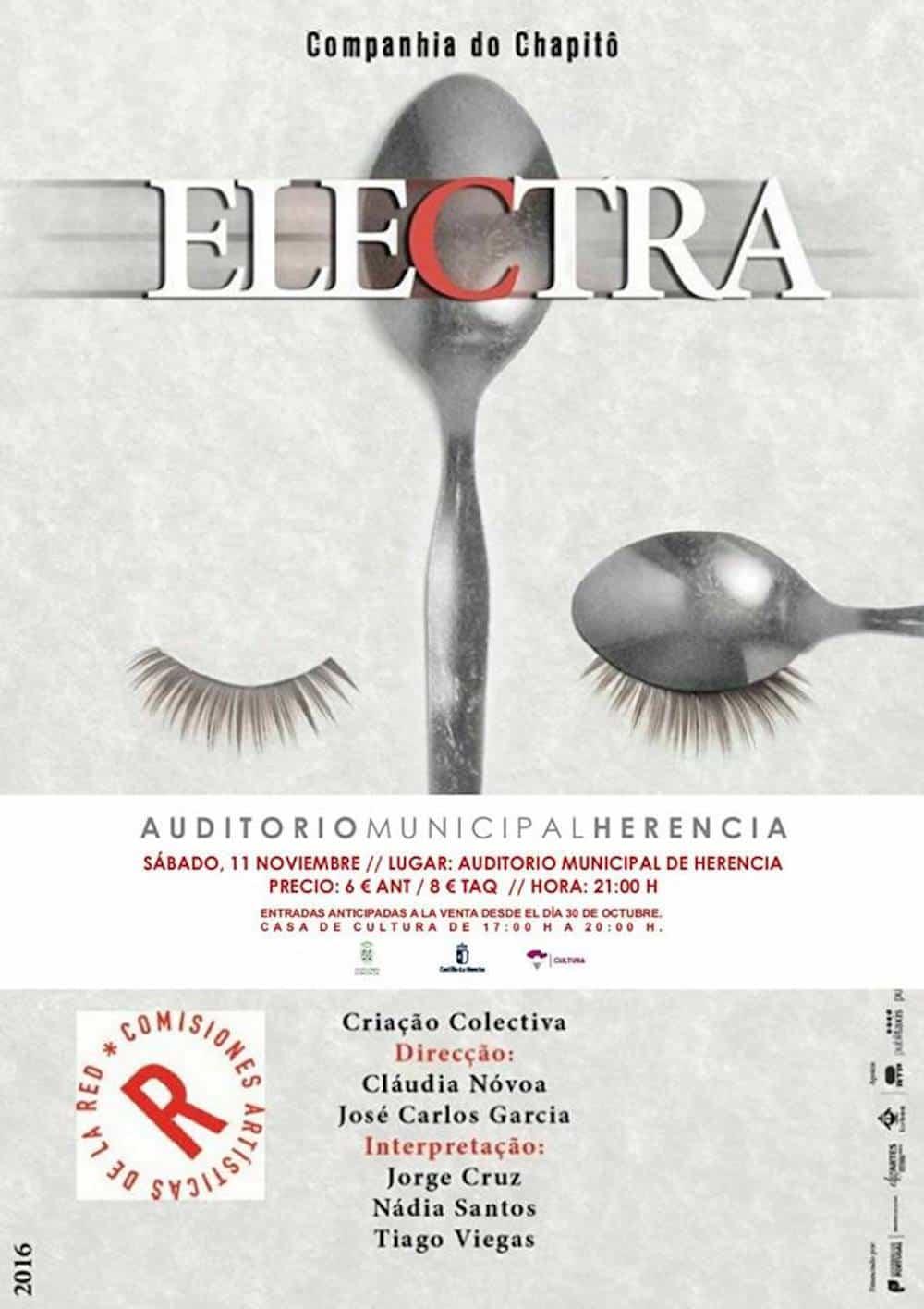 Nueva cita en el Auditorio con la obra de teatro clásico Electra 3