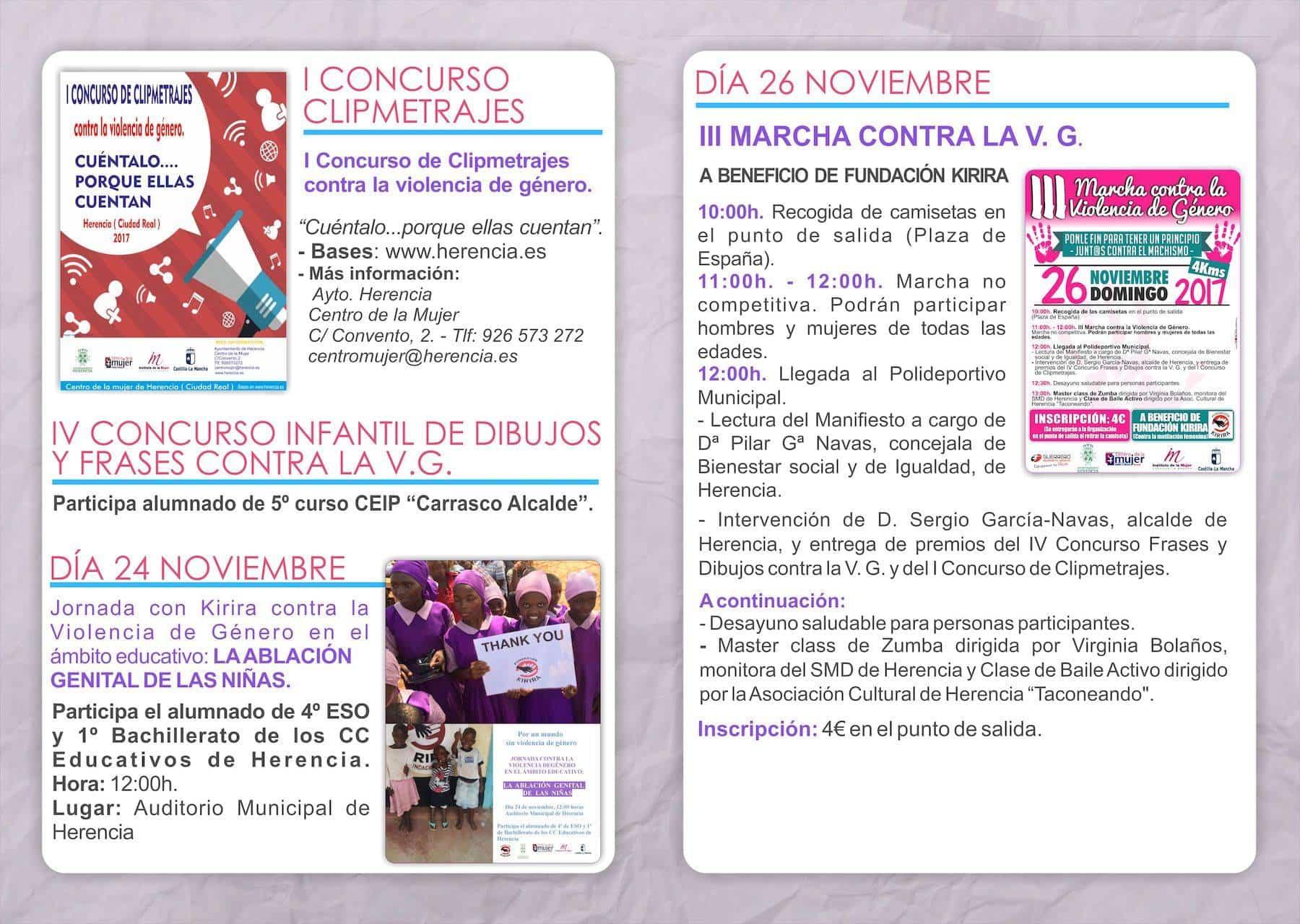 """folleto dia contra violencia genero - """"Ponle fin para tener un principio"""". Día contra la Violencia de Género en Herencia"""