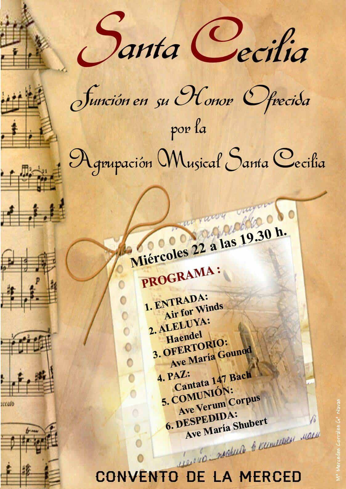 funcion en honor a santa cecilia - Actos de la Banda de Música en homenaje a Santa Cecilia