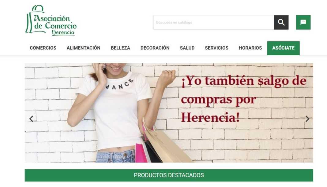 """herenciashop 1068x612 - La Asociación de Comercio local lanza su """"tienda online"""""""