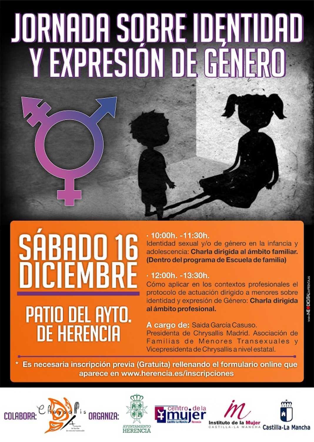 jornadas identidad expresion herencia 1068x1502 - Jornadas sobre identidad y expresión de género en Herencia