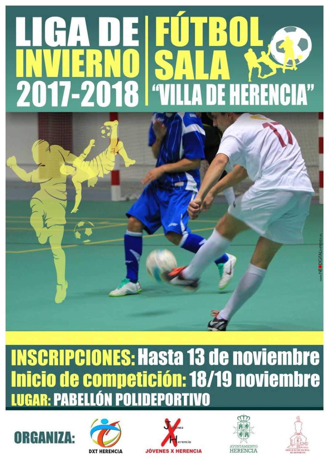 liga de inviernos 2017 2018 1068x1502 - Inscripciones abiertas: Liga de Invierno 2017-2018 Fútbol Sala
