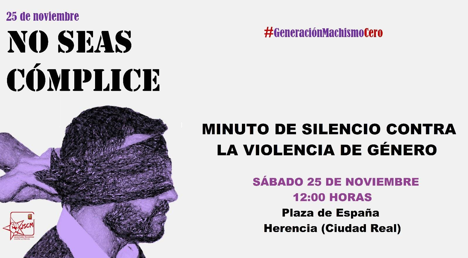 Minuto de silencio contra la violencia de género en Herencia 6