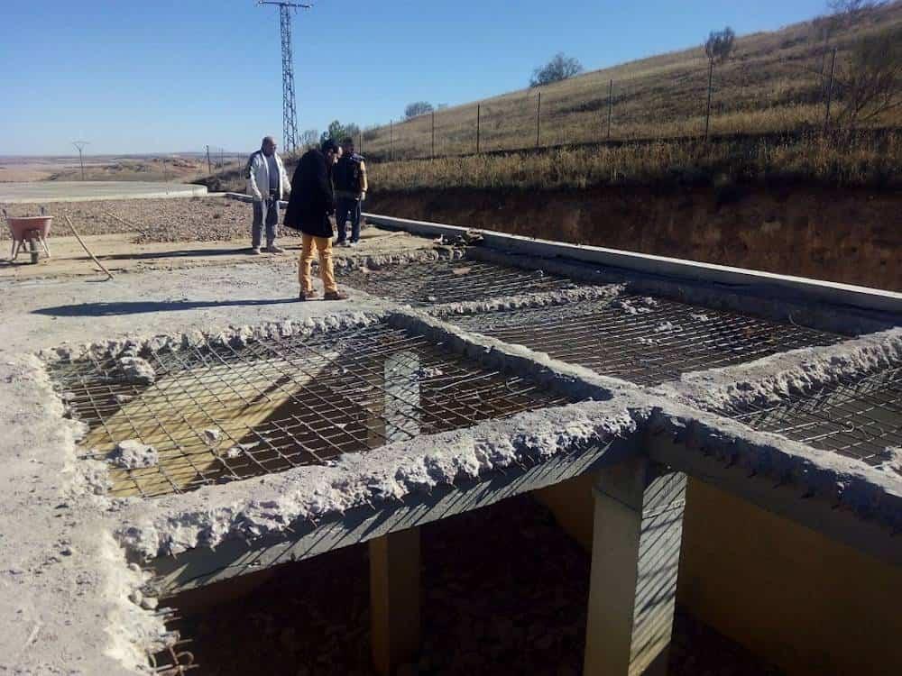 Obras en depósitos de Agua de Herencia