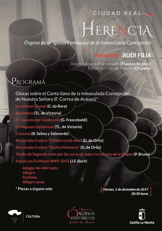 organoshistoricos2017 en Herencia - Concierto de órgano a cargo del grupo Audi-Filia