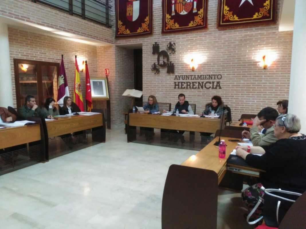 Pleno Municipal de Herencia en noviembre 2017