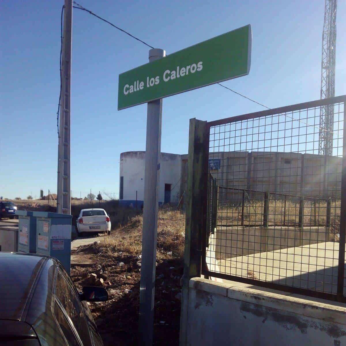 Calle de los Caleros en Polígono Industrial de Herencia
