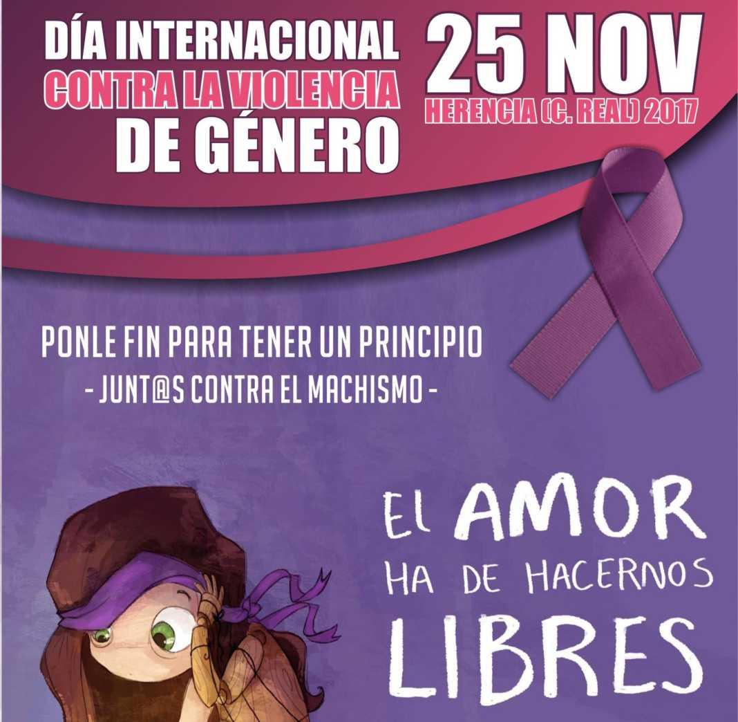 """portada dia internacional violencia genero herencia 1068x1044 - """"Ponle fin para tener un principio"""". Día contra la Violencia de Género en Herencia"""