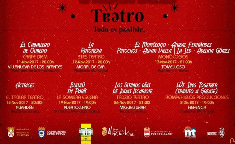 programacion muestra teatro 2017 - XXVII Muestra Provincial de Teatro de la Diputación concluirá en Herencia
