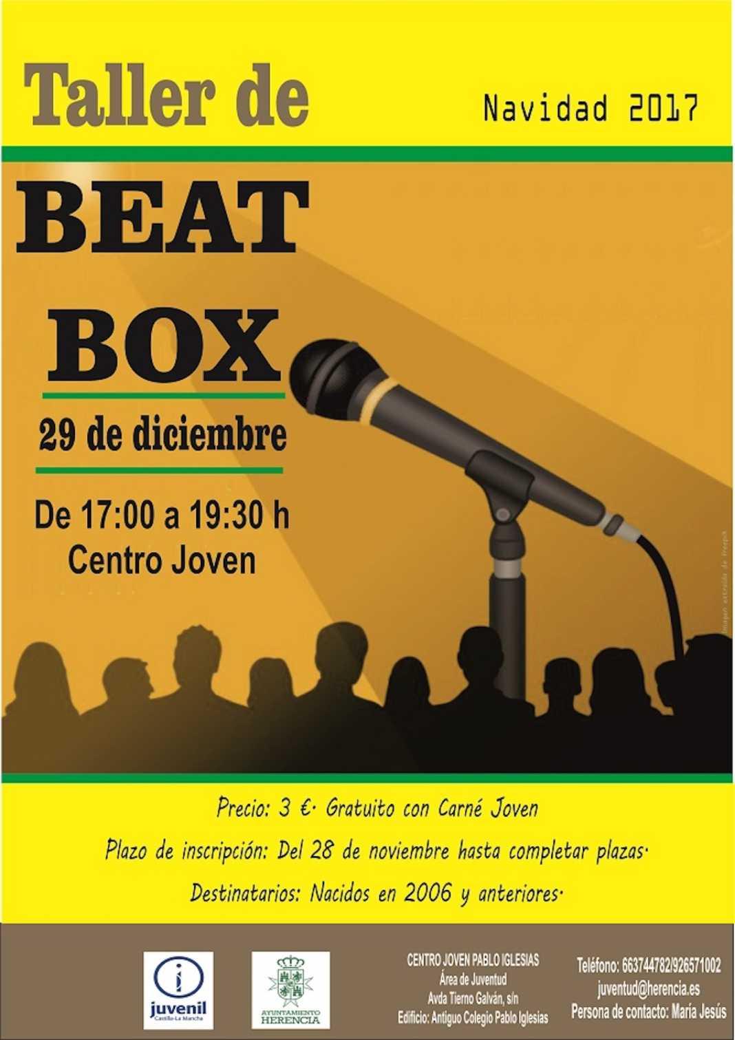 taller BeatBox 1068x1511 - Aprende una nueva modalidad musical con el Taller de BeatBox