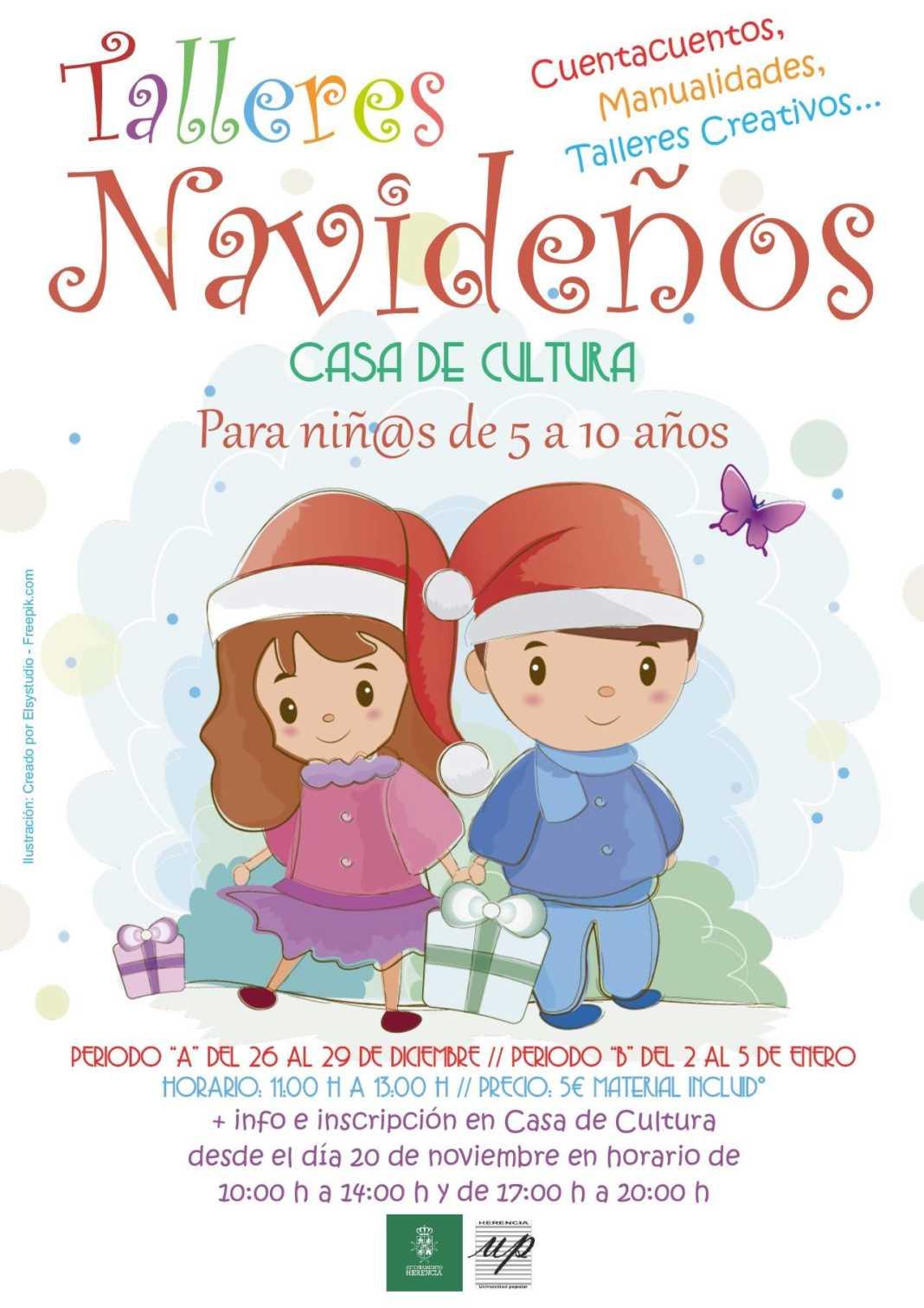 talleres navidenos herencia 1068x1511 - Talleres navideños para niños en Herencia