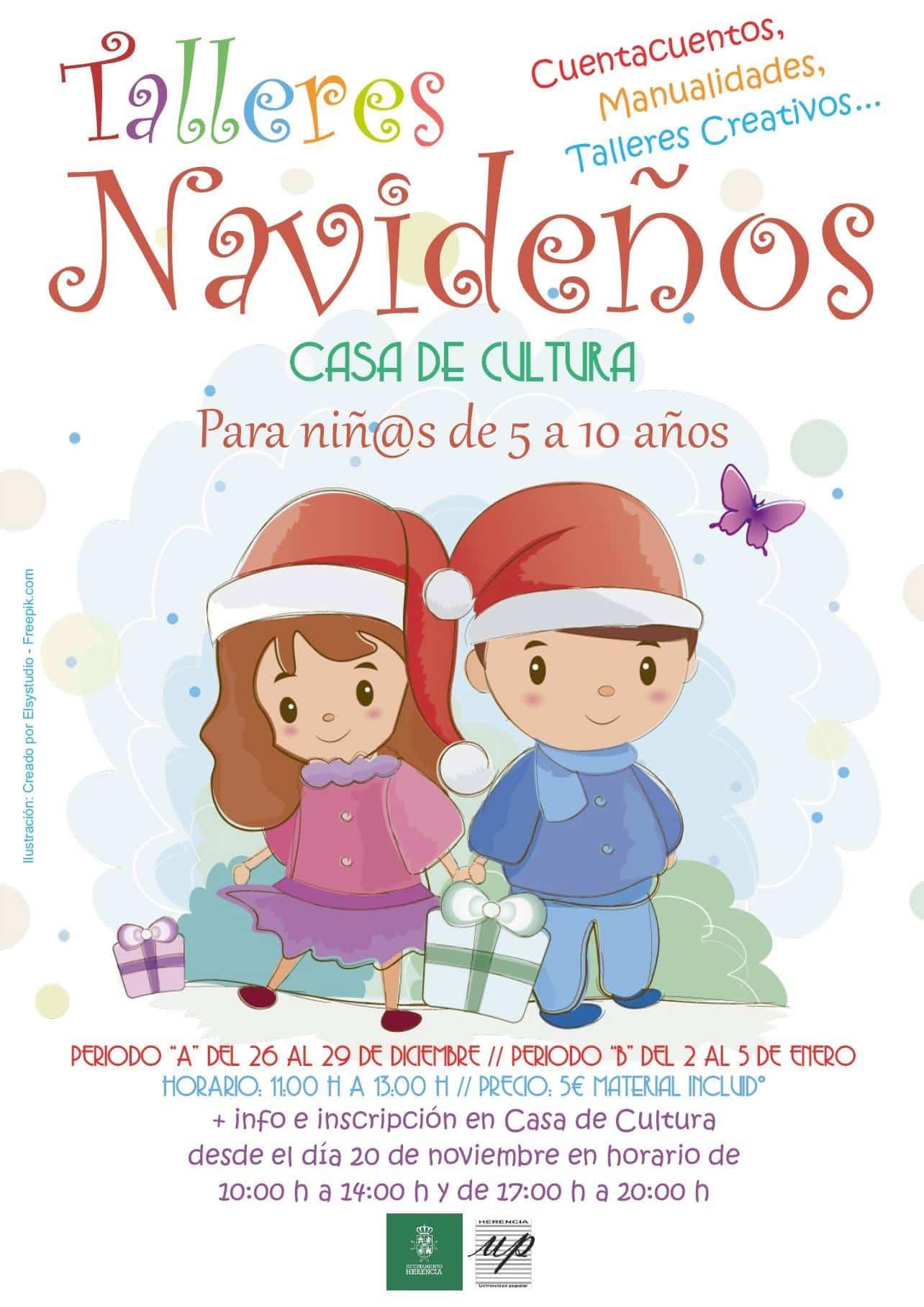 talleres navidenos herencia - Talleres navideños para niños en Herencia