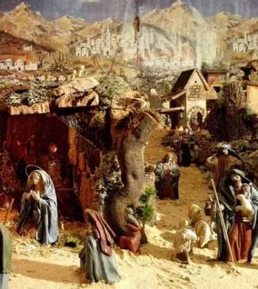 05 Belen de la Familia Gallego de la Sacristana Glez Ortega09 374x420 - Galería de imágenes de la III Muestra de belenes de Herencia