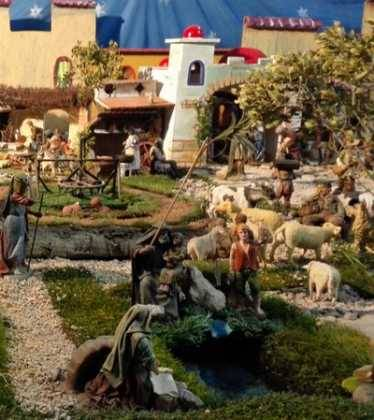 07 Belen de Jesus Lopez Escribano 22Chamusca2200 374x420 - Galería de imágenes de la III Muestra de belenes de Herencia