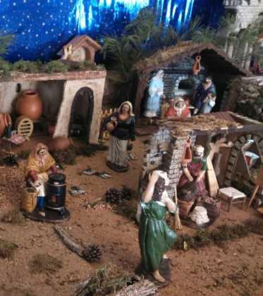 10 Belen de la Gema Gallego de la Sacristana05 373x420 - Galería de imágenes de la III Muestra de belenes de Herencia