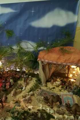 12 Belen de la ermita de la Encarnacion Inmaculada Moraleda05 280x420 - Galería de imágenes de la III Muestra de belenes de Herencia