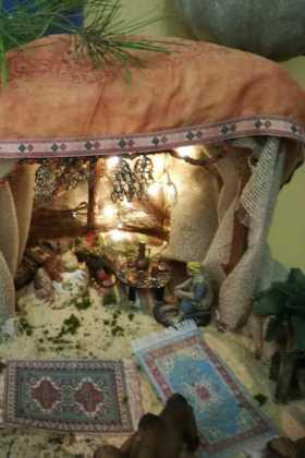 12 Belen de la ermita de la Encarnacion Inmaculada Moraleda06 280x420 - Galería de imágenes de la III Muestra de belenes de Herencia