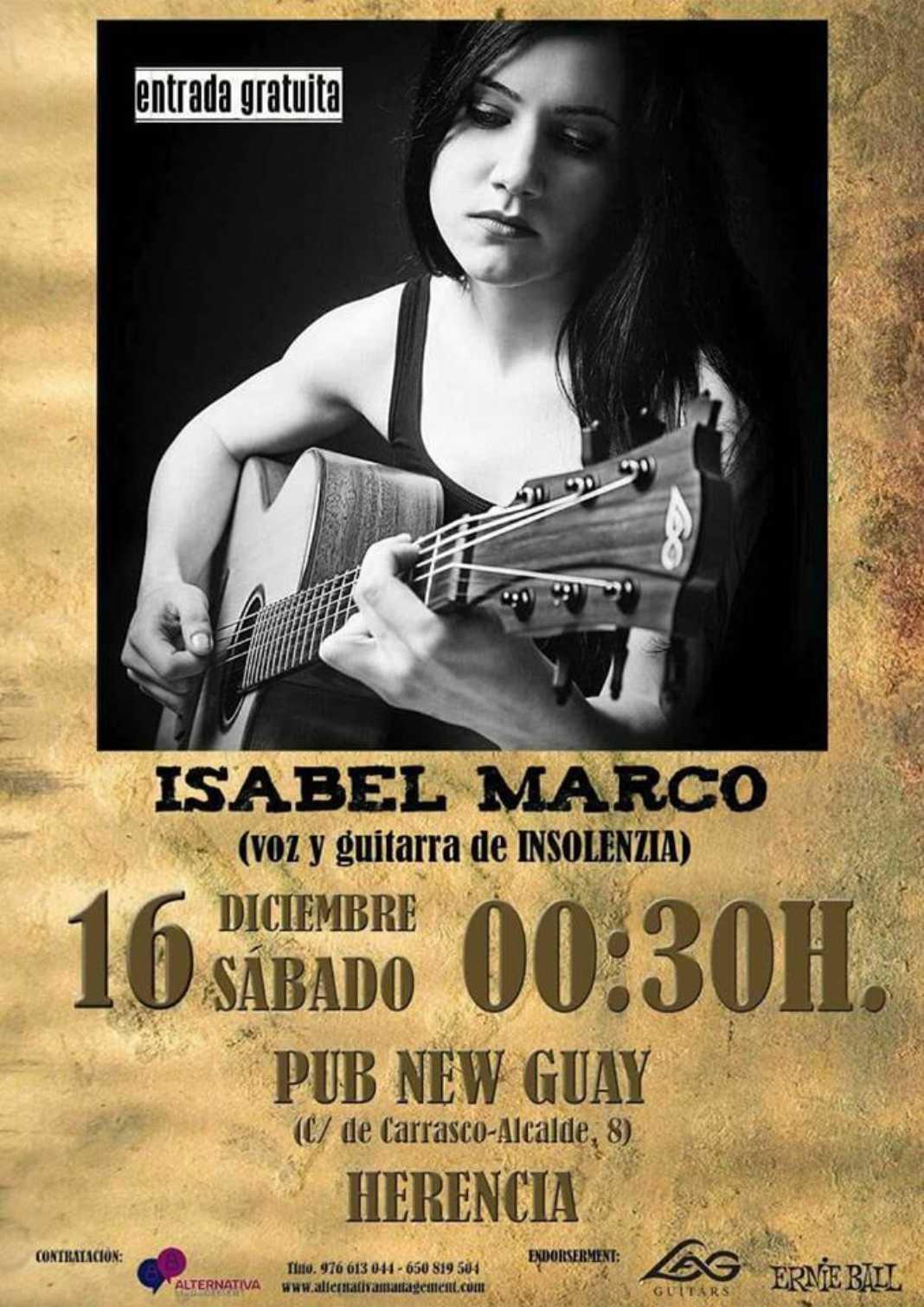 Isabel Marco dará un concierto en disco-pub New Guay 4