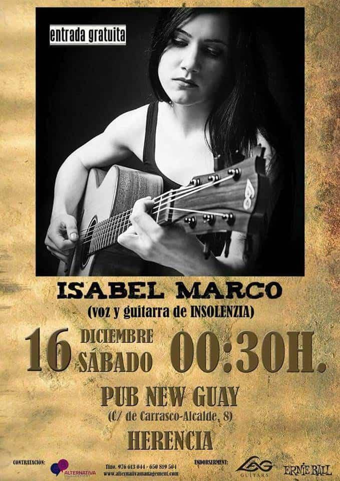 Concierto Isabel Marco de Insolenzia en New guay - Isabel Marco dará un concierto en disco-pub New Guay