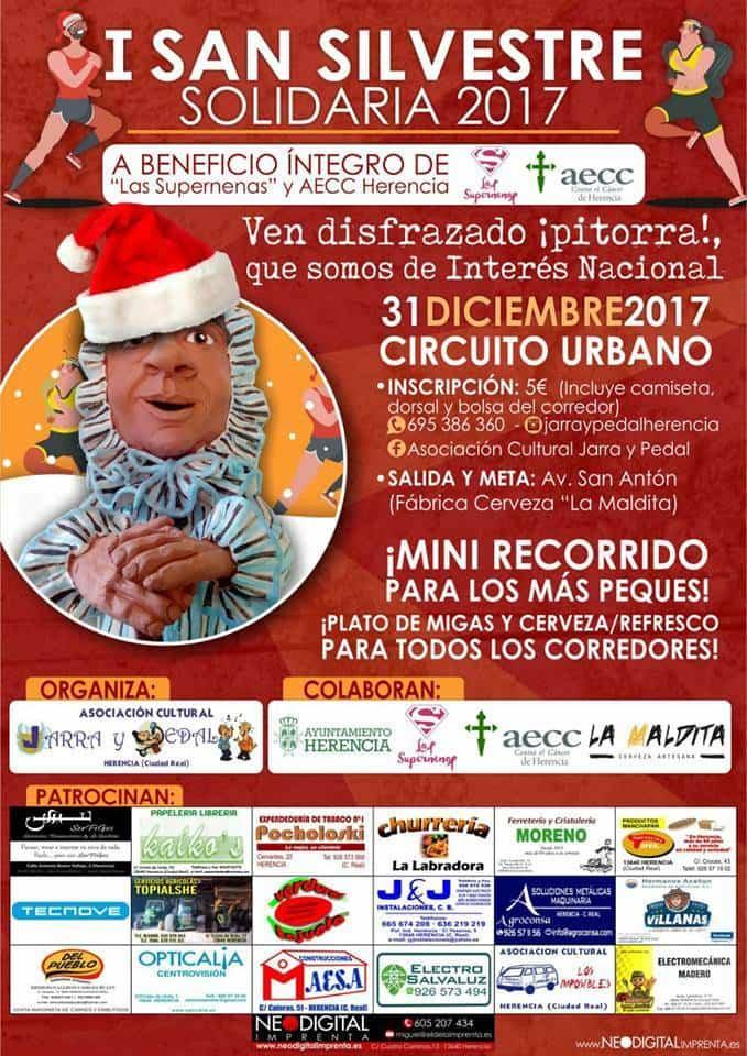 I San Silvestre Solidaria 2017 Herencia - Jarra y Pedal organiza su I San Silvestre solidaria en Herencia