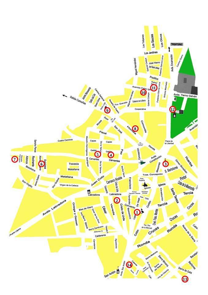 III Muestra de belenes populares de Herencia mapa de situación - III Muestra de belenes populares de Herencia