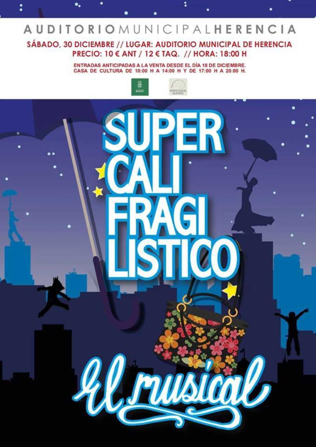 """Supercalifragilistico El Musical 1068x1510 - El musical """"Supercalifragilísitco"""" en el auditorio de Herencia"""