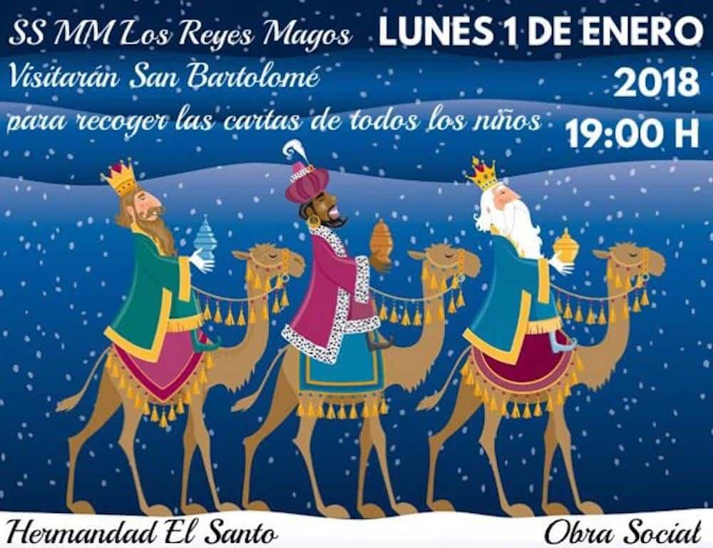 Los Reyes Magos recogerán las cartas de los pequeños en San Bartolomé 3