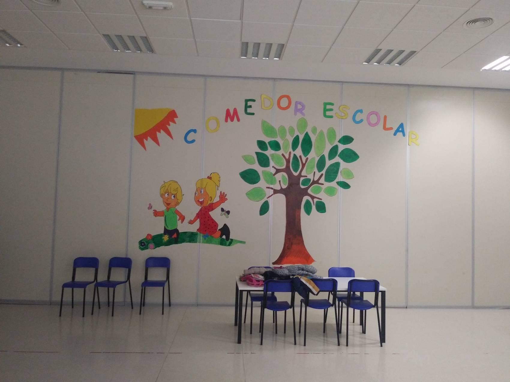 comedor escolar herencia 2 - El comedor escolar abre en Navidad para conciliar trabajo y bienestar