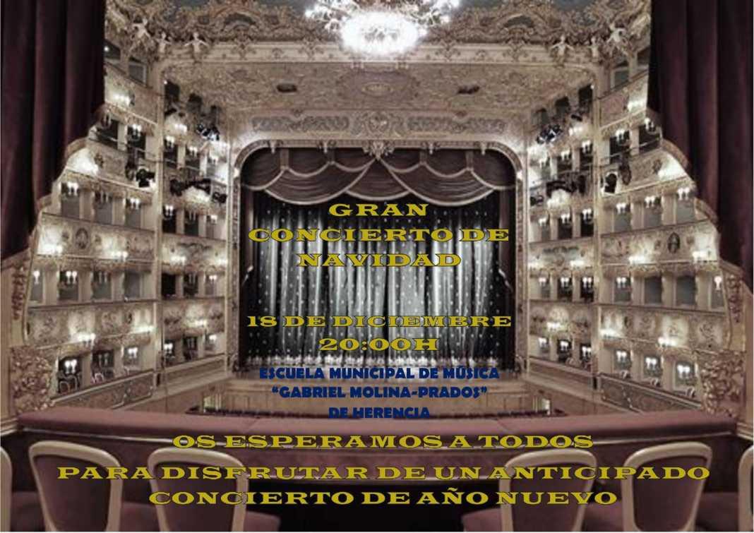 concierto de navidad de la Esucela de Musica de Herencia 1068x755 - Concierto de Navidad de la Escuela de Música