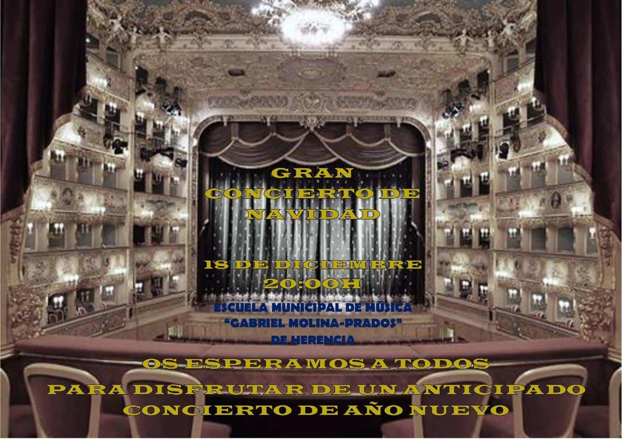 concierto de navidad de la Esucela de Musica de Herencia - Concierto de Navidad de la Escuela de Música