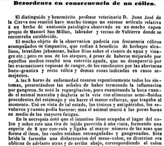 Un herenciano entre los fundadores de la Sociedad de Medicina Veterinaria de España 13