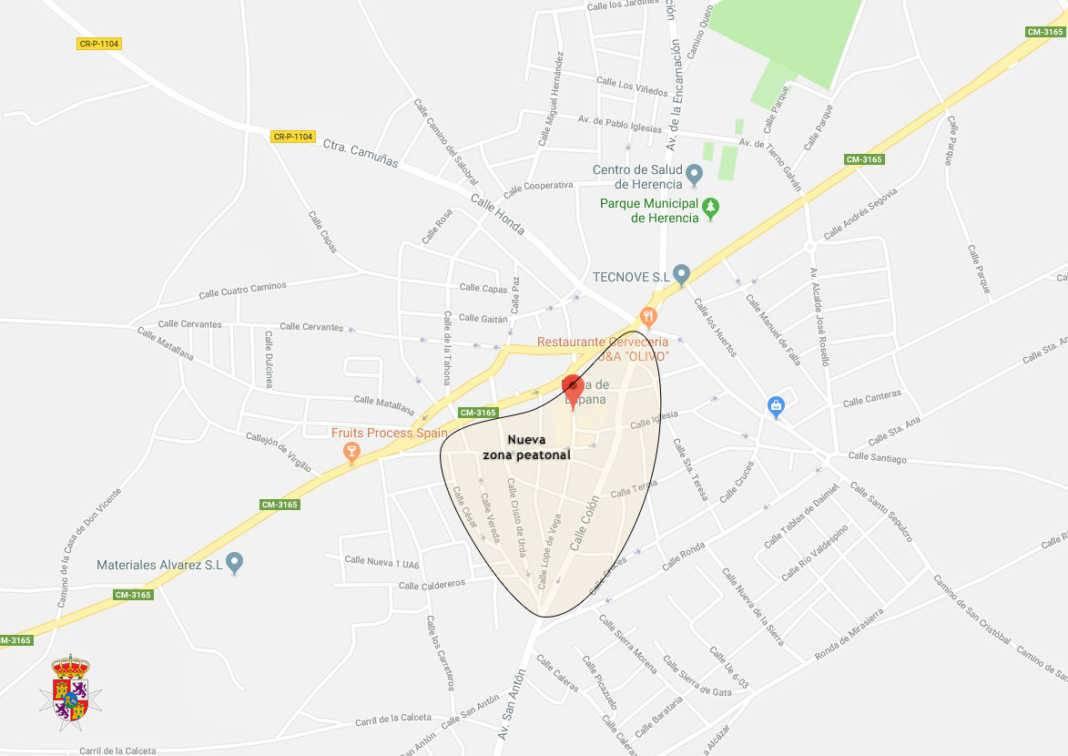 herencia ciudad real calles peatonales 1068x756 - Herencia ampliará sus calles peatonales en 2018