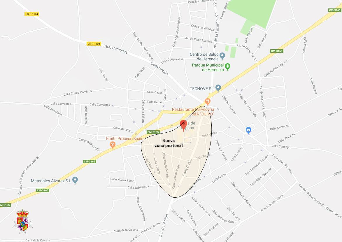 herencia ciudad real calles peatonales - Herencia ampliará sus calles peatonales en 2018