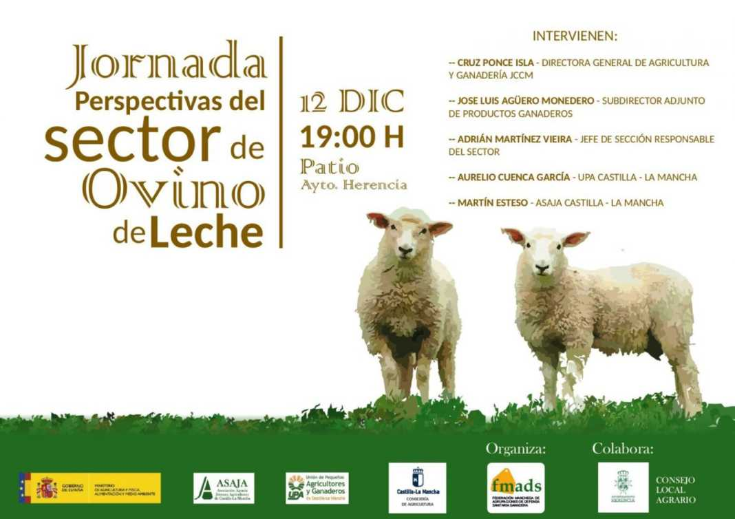 jornadas sobre el futuro del sector ovino de leche en Herencia 1068x754 - Herencia acoge una jornada sobre el futuro del sector ovino de leche