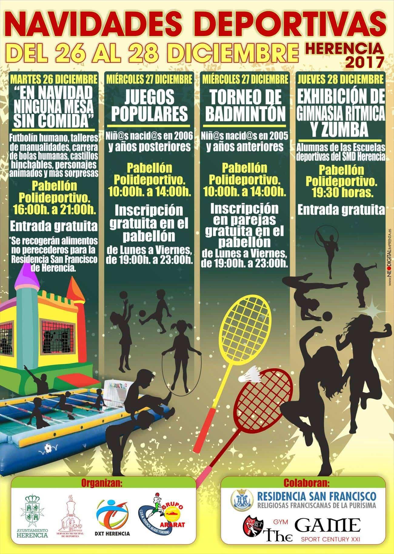 navidades deportivas herencia 2017 - Navidades deportivas en Herencia
