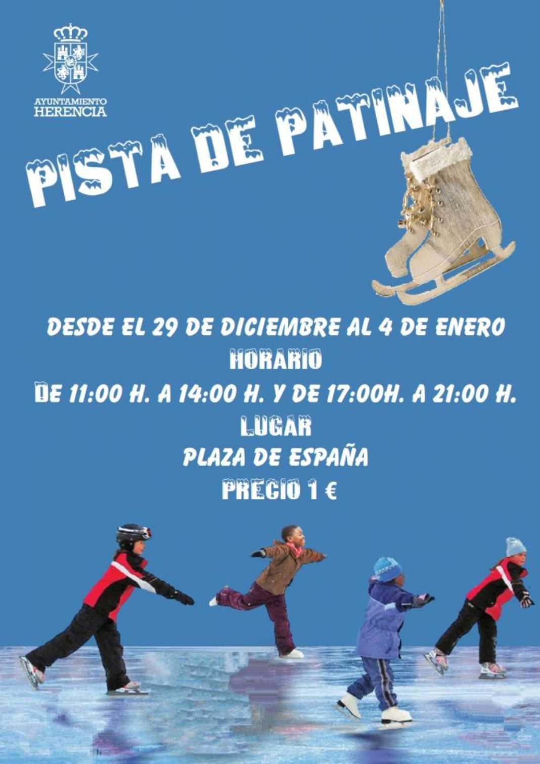 Herencia contará con una pista de patinaje estas Navidades 4