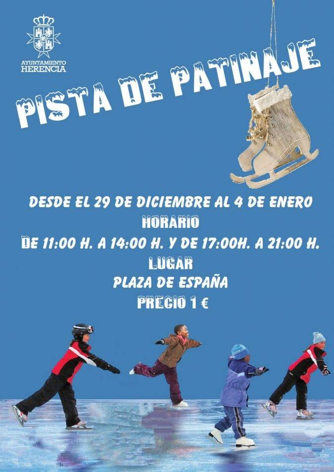 pista de patinaje en Herencia 2017 - Herencia contará con una pista de patinaje estas Navidades