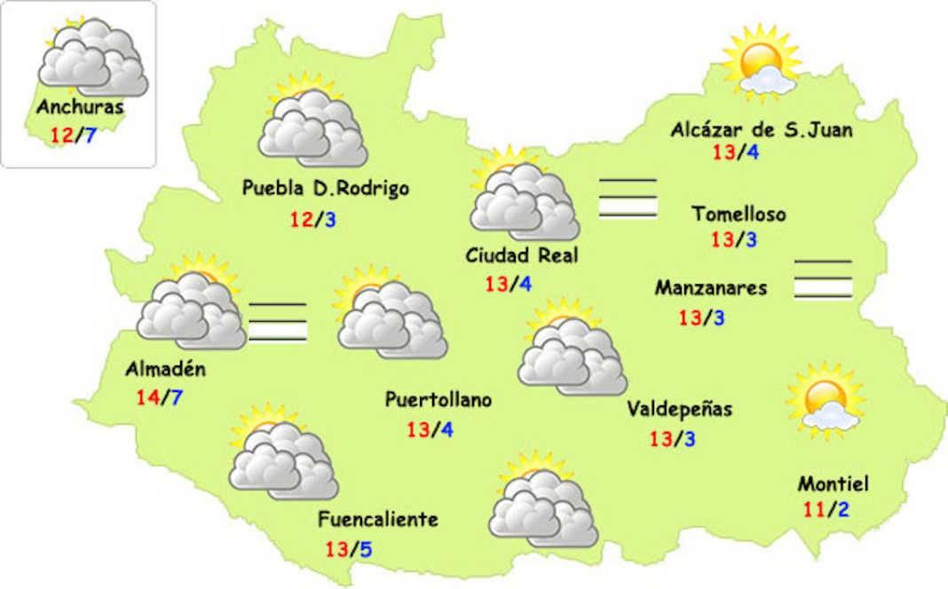 tiempo fin ano ciudad real 1068x664 - Previsión del tiempo especial para Nochevieja y Año Nuevo en Herencia