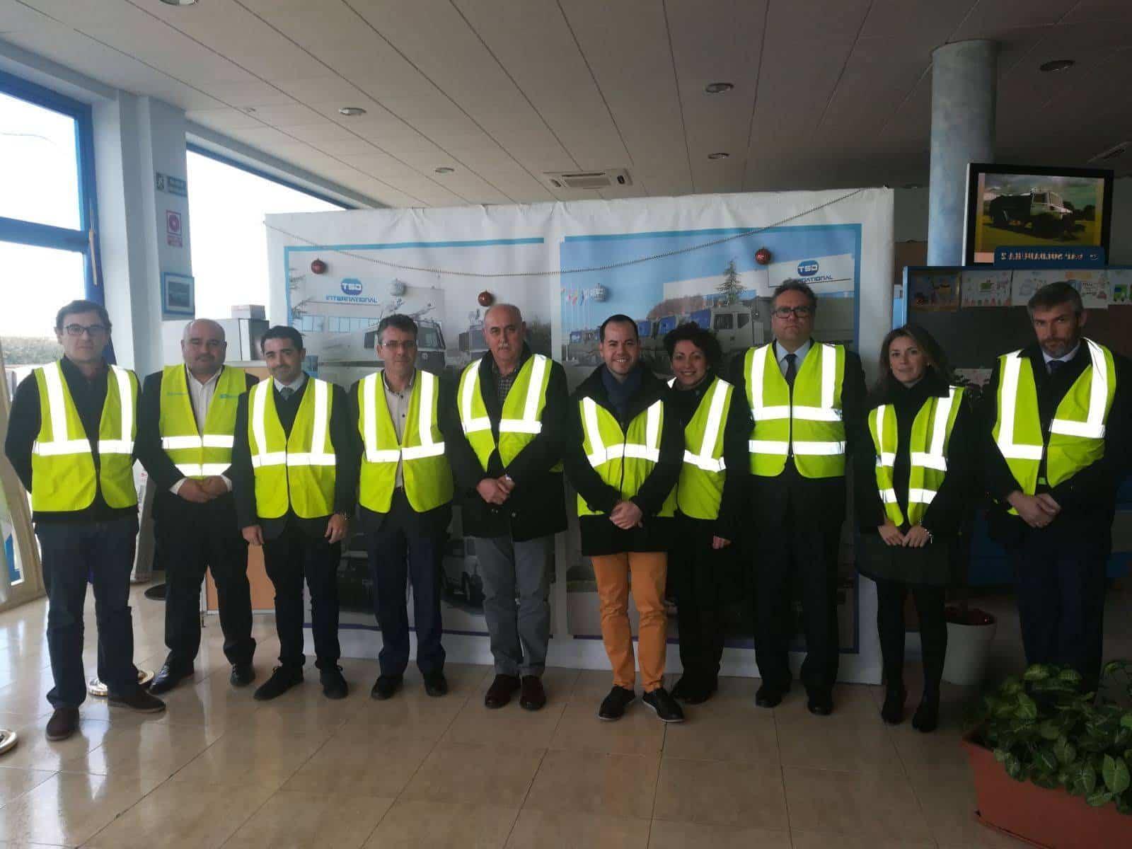 tsi divisegur proyecto CREA - Director General de Empleo visitó TSD-DIVISEGUR en Herencia