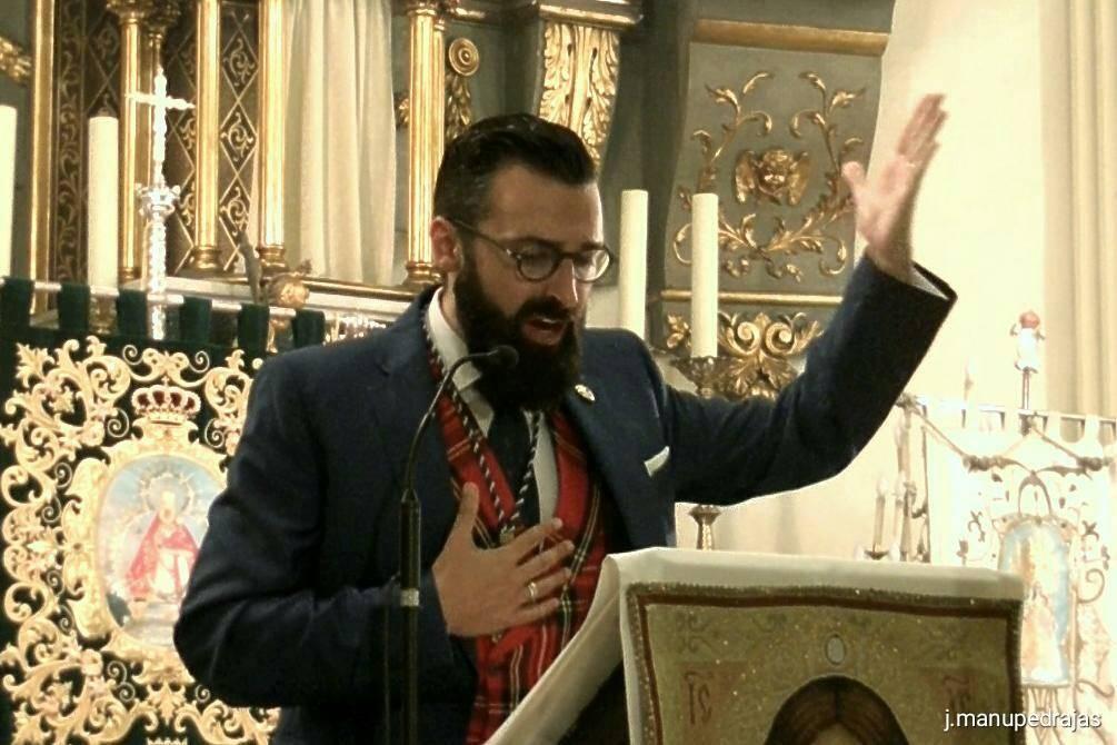Antonio Martin Viveros Tajuelo durante un pregón - Antonio Martín-Viveros será el pregonero de Virgen de la Cabeza de Madrid