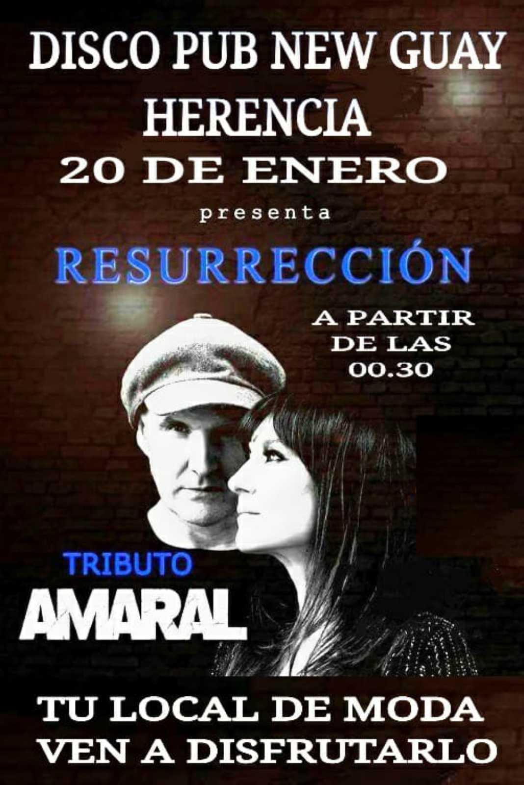 Tributo a Amaral en disco-pub New Guay 4