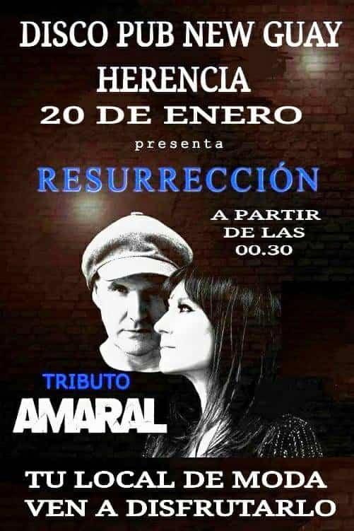 Concierto tributo Amaral en New Guay - Tributo a Amaral en disco-pub New Guay