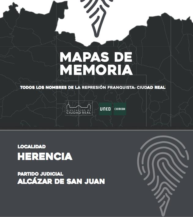 Mapas de Memoria Herencia - Mapa de Memoria de los represaliados de la dictadura franquista en Herencia