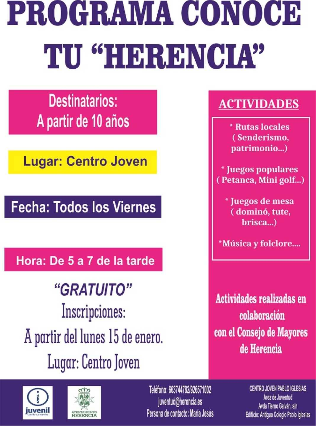 """Programa Conoce tu Herencia 1068x1439 - En marcha el programa """"Conoce tu Herencia"""""""