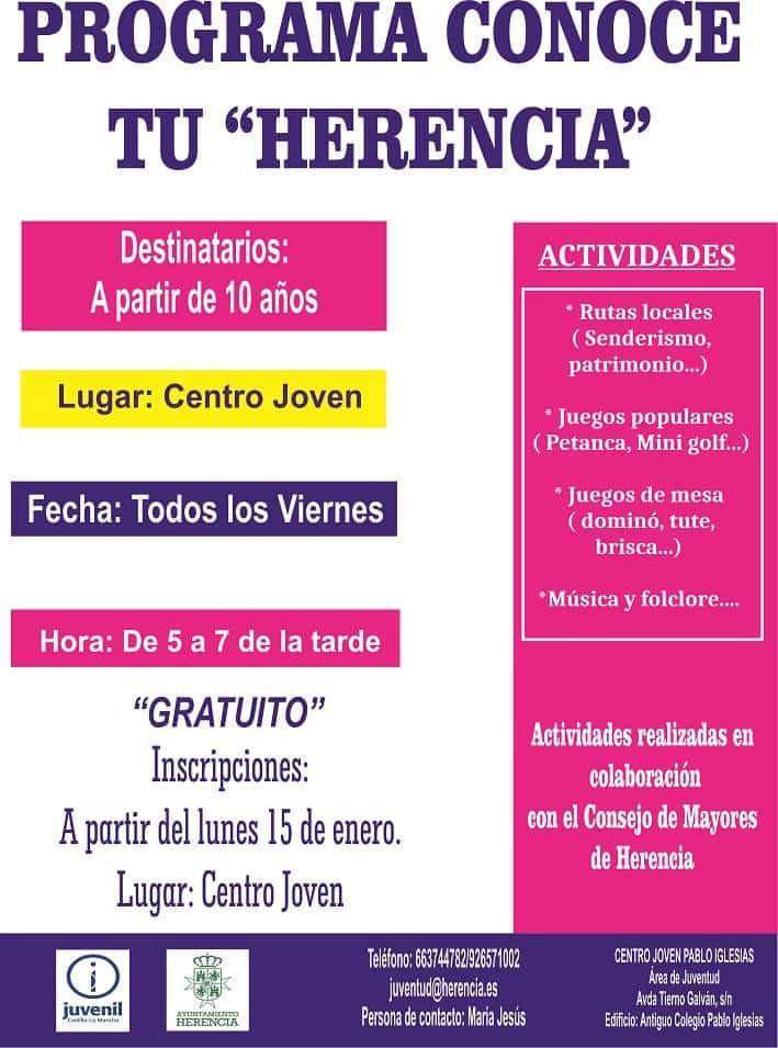 """Programa Conoce tu Herencia - En marcha el programa """"Conoce tu Herencia"""""""