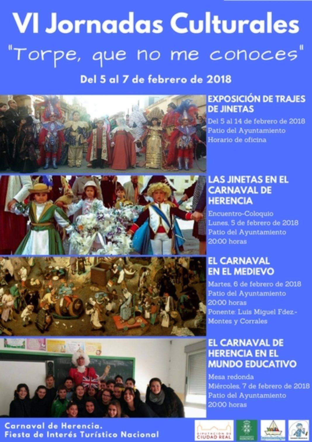VI Jornadas Torpe que no me conoces 2018 1 1068x1512 - VI Jornadas Culturales: Pasado, presente y futuro del Carnaval de Herencia