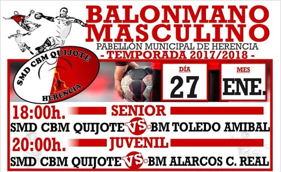 balonmano herencia 2018 enero 1068x654 - Balonmano masculino en Herencia el 27 de enero