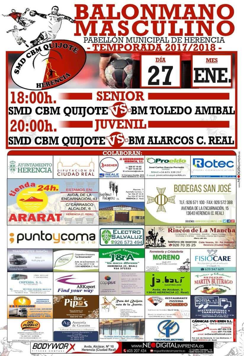 Balonmano masculino en Herencia el 27 de enero 3