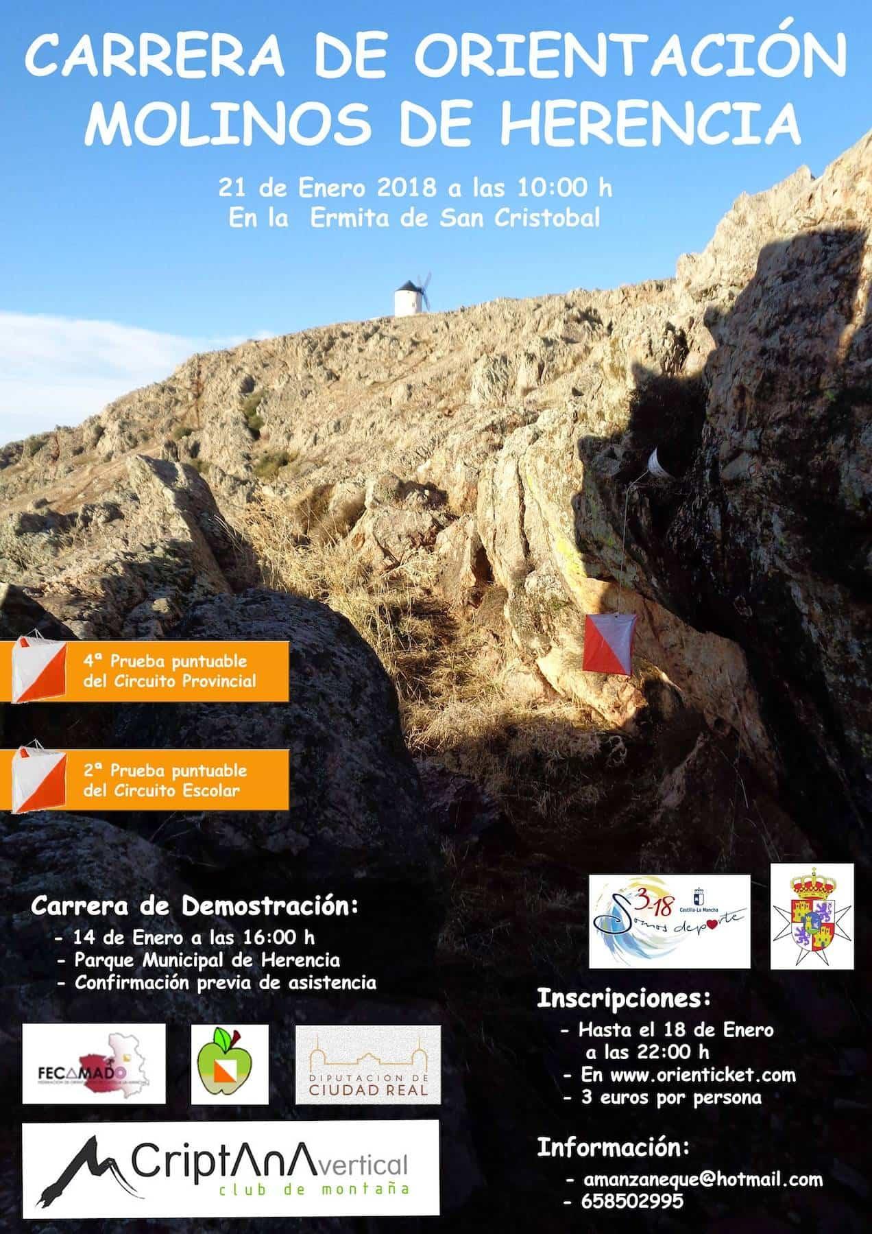 carrera orientacion molinos herencia - Carrera de orientación: Molinos de Herencia